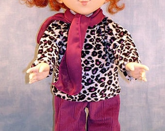 18 Inch Doll Clothes - Magenta Minky Pants Set made by Jane Ellen to fit slender 18 inch dolls