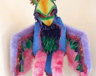 Parrot Puppet - Handmade