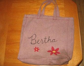 SALE 1980s Bertha's Brushed Twill Tote Bag