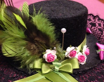 Neon Green and Pink Fascinator