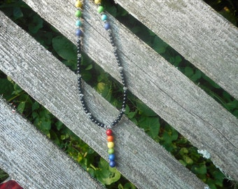 HUGE DISCOUNT - Gay Pride gemstone necklace