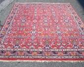 "1970s Vintage Hand-Knotted 6'9"" x 8'10"" Bijar Persian Rug (3166)"