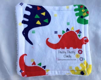 Baby Washcloths Bath Set of 4 Whimsical Dinosaurs