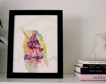 "Girl Time No. 4 - 8.5"" x 11"" Original Art Print"