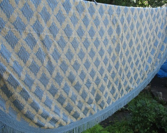 Covers - blue and gold vintage bed 1970, coverage, brocart.decoration room, blue