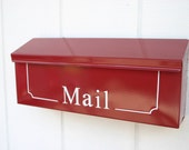 Colonial Red Painted Mailbox as seen on HGTV Magazine by TheBusBox Custom made - Choose your color - Office - Business - Garden - ColorBox