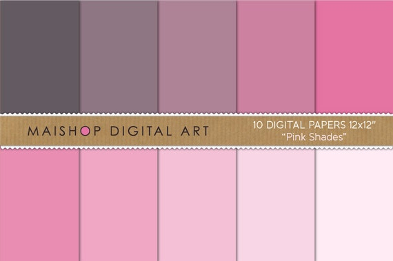solid color digital paper pink shades printable scrapbook papers for digital scrapbooking paper crafting edible papers backgrounds - Colored Paper Printable
