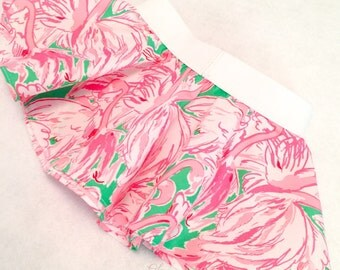 """Circle Skirt in Lilly Pulitzer Fabric """"Pink Colony"""""""