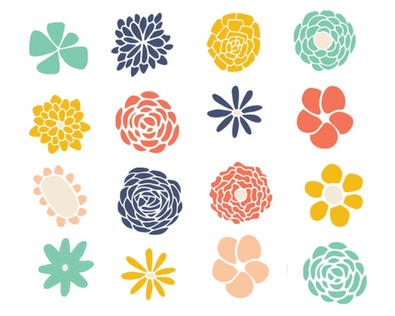 Clipart Sale 60% off Flower Doodle Clipart Digital Design