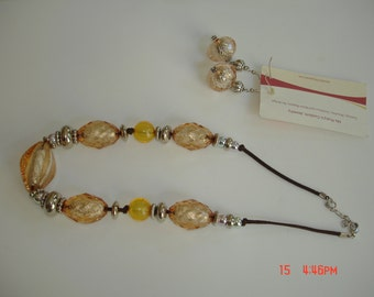 Gold and Silver necklace set