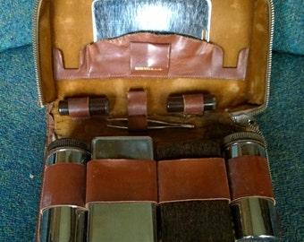 Mens Toiletry Vanity Set - Vintage 1930s travel vanity case