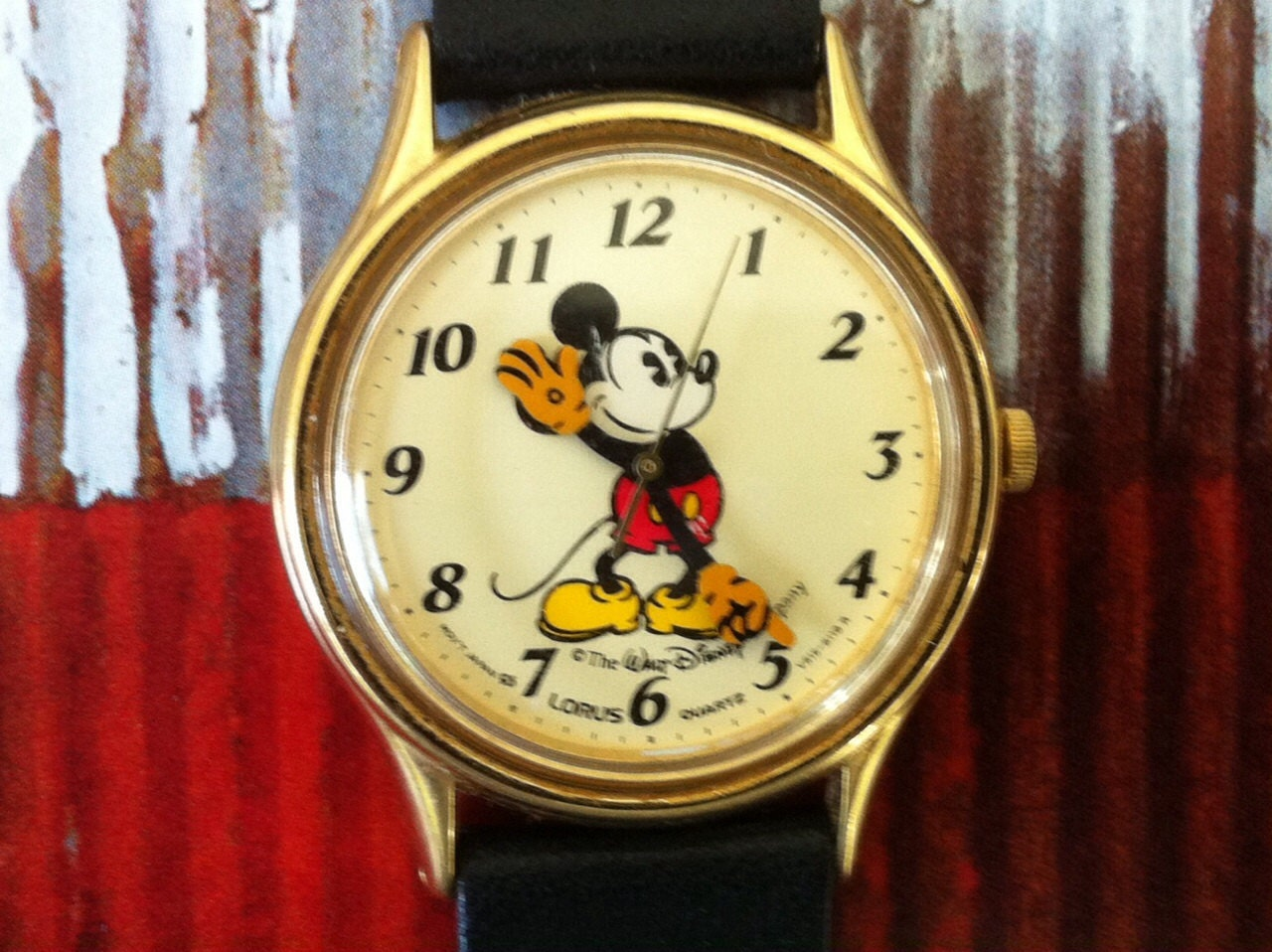 Mickey Mouse Watch Lorus By Seiko V515 6000 A1 Pale