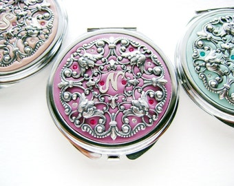 Set of 5-Personalized Bridesmaids Gifts Compact Mirrors