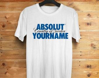 Custom ABSOLUT name shirt