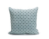 Gray and Black origami geometric pillow cover 50x50 cm, 19.5X19.5 inch, Printed pillow cover Home decor accessory