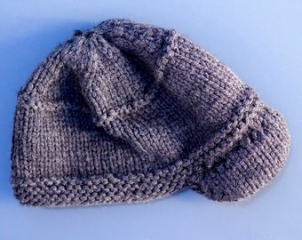 Newsboys knit brimmed dark grey toddler hat fits 1-2 years old