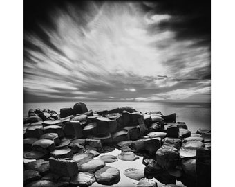 Ireland Black and White, The Giants Causeway, Pinhole Photography, Long Exposure Photography, Fine Art Print