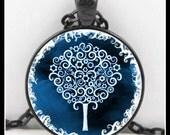 Winter Tree Of Life Pendant, Tree Of Life Necklace, Tree Of Life, Glass Art Pendant, Wearable Art Pendant - P-TOL-11
