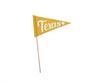 Texas Screen-printed Felt Flag - Home & Dorm Decor, Texas Pride