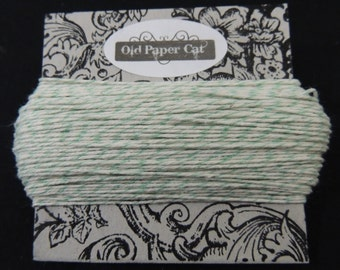 50 Yds. Teal & Natural White BAKERS TWINE | Free Shipping | 4 Ply 100% COTTON