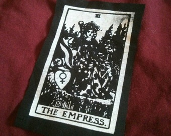 The Empress Tarot Card Patch | Occult | Feminist | Psychic | Witch | 3 x 4