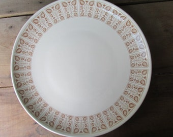 Vintage Cake Plate Brown and White Cake Platter Wedding Cake Platter