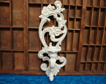 Vintage Homco Wall Sconce Heirloom White