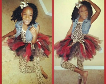 Leopard Tutu With Matching Bow