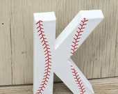 "8"" Baseball Stand Up Decorative Letters, Birthday Party, Photo Prop"