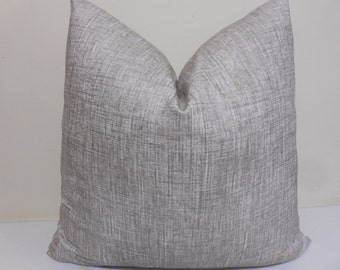 Robert Allen Alchemy Pillow Cover in Zinc-   Decorative Throw Pillow - Robert Allen  Cushion - Alchemy Linen Zinc
