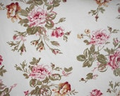 Floral Cotton Shower Curtain, Roses