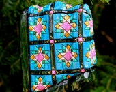 Hand Carved Turquoise Mini Quilt Ornament