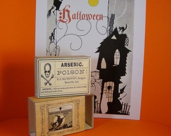Halloween treat Boxes,card stock, DIY, Trick or Treat, Printable boxes, KitVintage decoration,Simple and Easy, PDF and SVG files