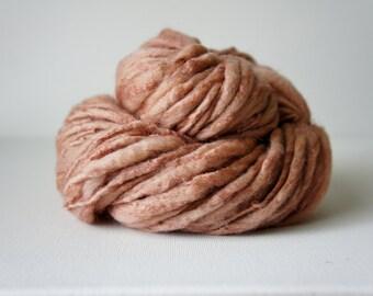 SALE: Merino SIlk Yarn, Bulky handspun yarn, Thick and Thin Yarn, Art Yarn, knitting supplies crochet supplies