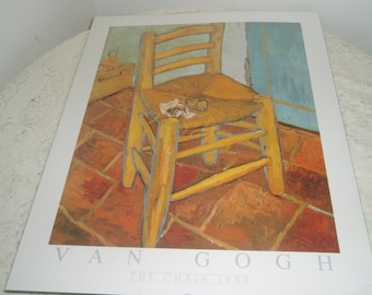 "Van Gogh Poster, ""The Chair"" 20 inch by 16 inch  Never used"