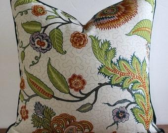 NEW-Decorator Pillow Cover- Schumacher - Sinhala - Bittersweet- Floral- Botanical