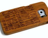 wooden Samsung Galaxy S6 case - real wood S6 case walnut / cherry or bamboo -  Art should