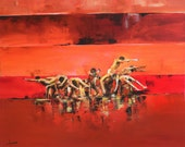 People Figures, Modern Art, Original Contemporary Painting, Only One Custom Order