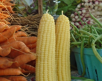 Corn Candle ~ all natural beeswax ~ Ear of Corn ~ Harvest Table ~ Farm Table ~ from the heartland sweet beeswax corn