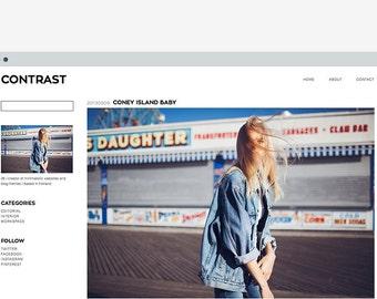 Wordpress template Contrast
