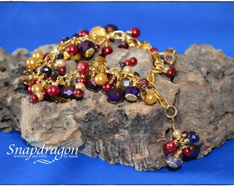 1001 Nights Collection - Fully loaded cluster beaded bracelet
