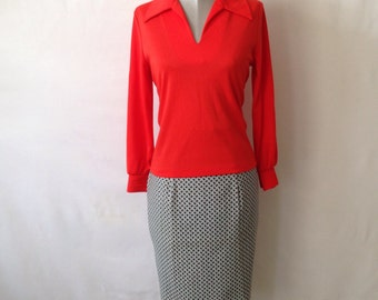 Paisely Pencil Skirt