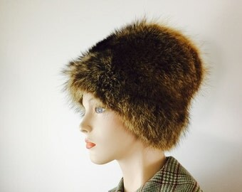 Vintage Fur Hat Russian Style Winter Fur Hat