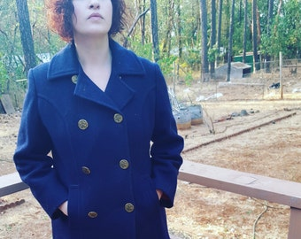 SALE Women's 1960's Wool Pea Coat Size M