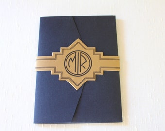 SAMPLE** Art Deco Invitation