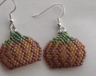 Fall Pumpkin Earrings