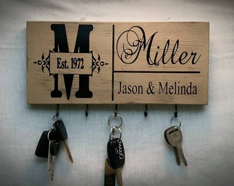 Key Holder, Christmas Gift Ideas, Personalized Key Holder, Key Rack, Wall Key Holder, Hanging Key Sign, Keys, Gifts Ideas