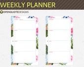 Personal Filofax Personal Weekly Planner, Filofax Printable Planner Inserts, Filofax Inserts, Printable Weekly Planner