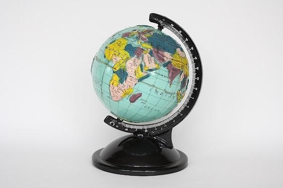 Vintage World Globe - Globe Bank -Table Globe - Small Globe - Old Globe - Globe Decor - Graduation Gift - Globe Prop - Commonwealth Plastic