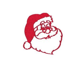 Santa Claus Christmas Machine Embroidery Design, santa embroidery design, christmas embroidery design, santa machine embroidery design